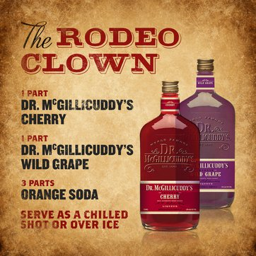 1 part Dr. McGillicuddy's Cherry, 1 part Dr. McGillicuddy's Wild Grape, 3 parts orange soda, Serve as a chilled shot or over ice.